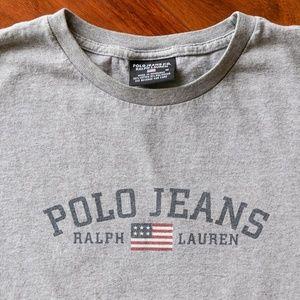 Vintage Polo Jeans Ralph Lauren Logo Tee
